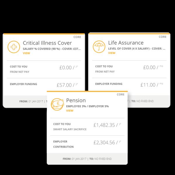 Examples of employee benefits cost breakdown