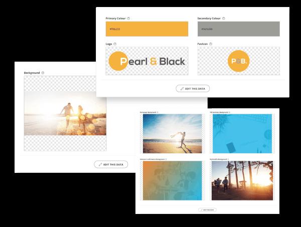Screenshots showing Zest Employee Benefits branding configuration